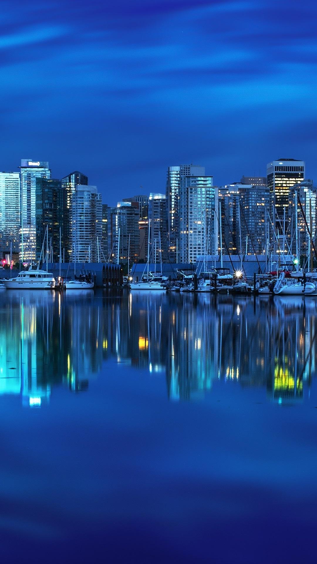 Wallpaper Vancouver British Columbia Canada Yacht Bay