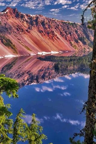 iPhone Wallpaper Watchman Peak, Crater Lake National Park, Oregon, USA