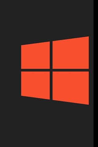iPhone Wallpaper Windows 10 system logo, orange style