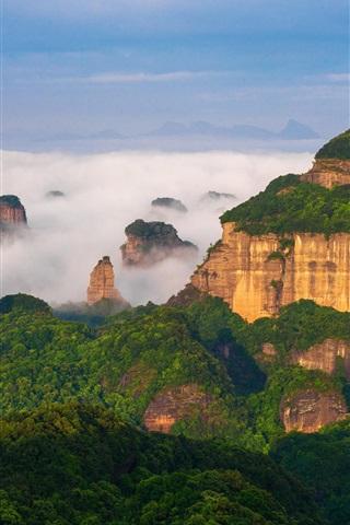 iPhone Wallpaper World Natural Heritage, Danxia Mountain, China scenery