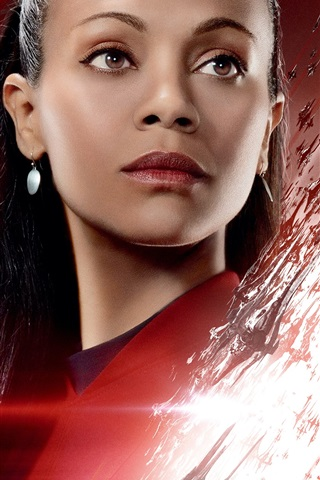 iPhone Wallpaper Zoe Saldana, Star Trek Beyond