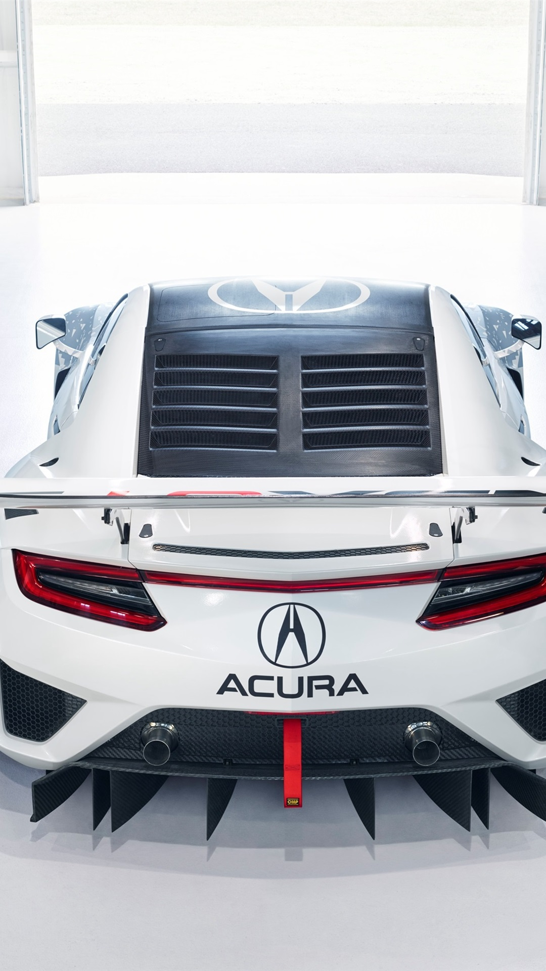 Acura Nsx Gt3 Supercar Back View 1080x1920 Iphone 8 7 6 6s