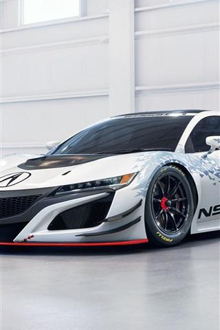 iPhone Wallpaper Acura NSX GT3 supercar