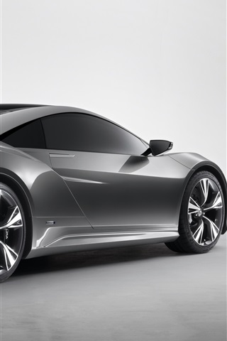 iPhone Wallpaper Acura NSX concept car back view
