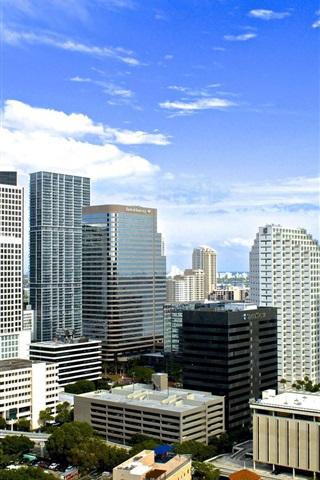 iPhone Wallpaper American city, Miami, Florida, buildings, houses