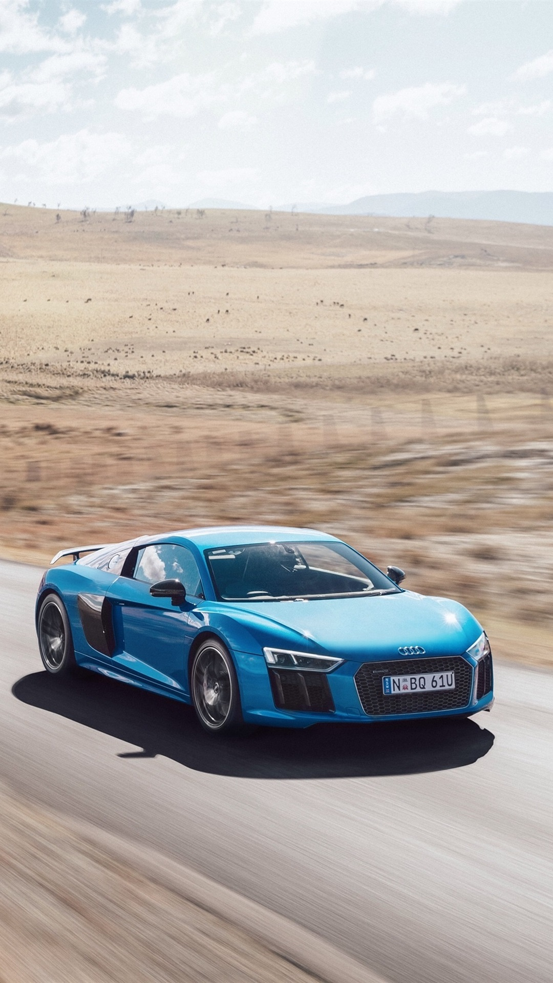 Audi R8 V10 Plus Blue Car High Speed 1080x1920 Iphone 8 7 6 6s Plus Wallpaper Background Picture Image