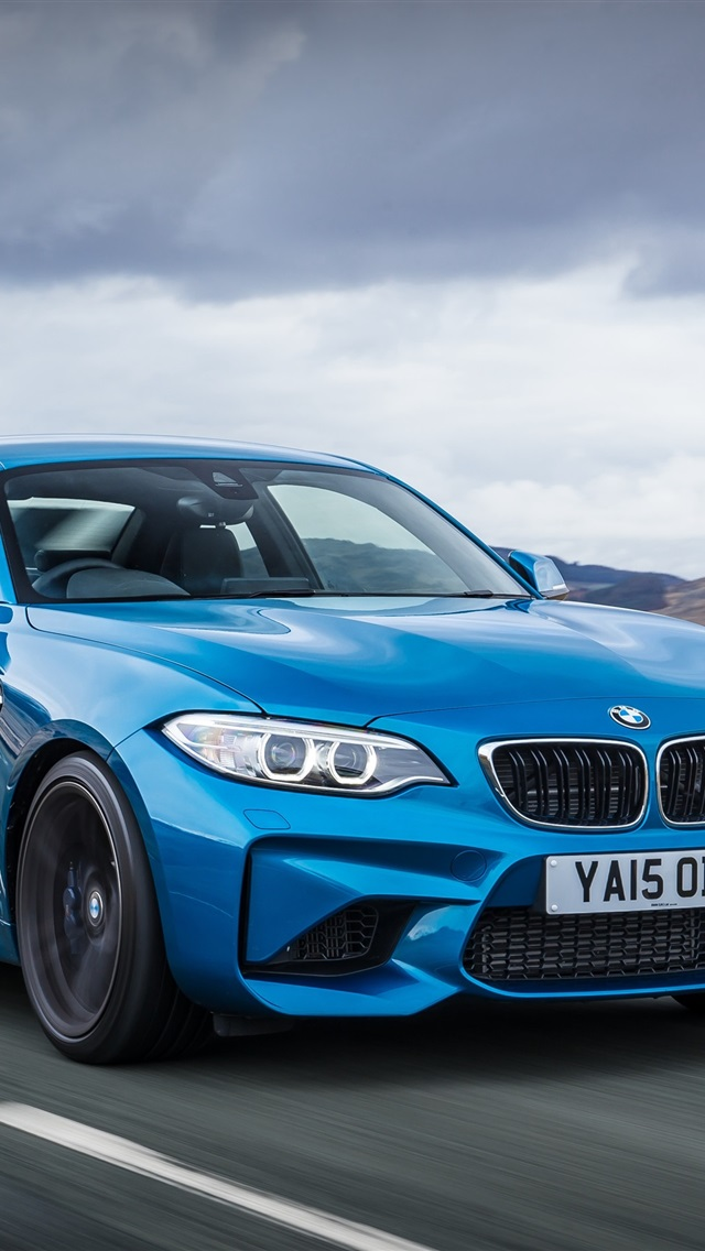 Bmw M Coupe F Blue Car Speed Iphone X on Bmw I8