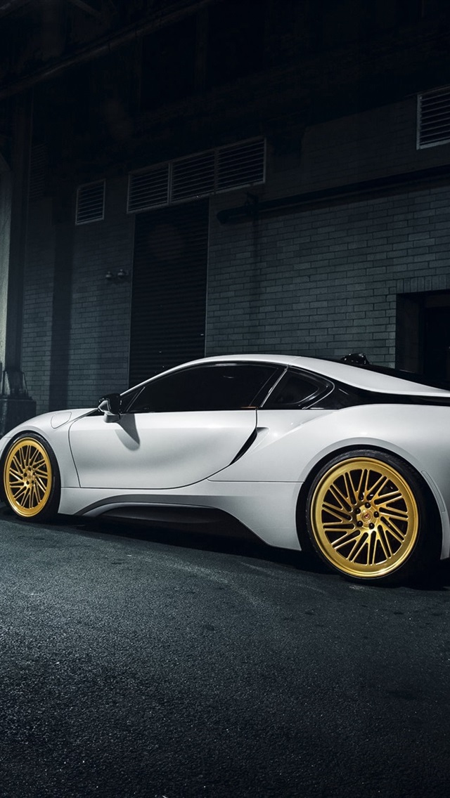 Bmw I8 Vossen White Supercar At The Night 750x1334 Iphone 8 7 6 6s Wallpaper Background Picture Image