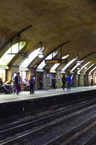 iPhone Wallpaper Baker Street, subway, England