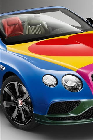 iPhone Wallpaper Bentley Continental GT V8 S Convertible car beautiful colors