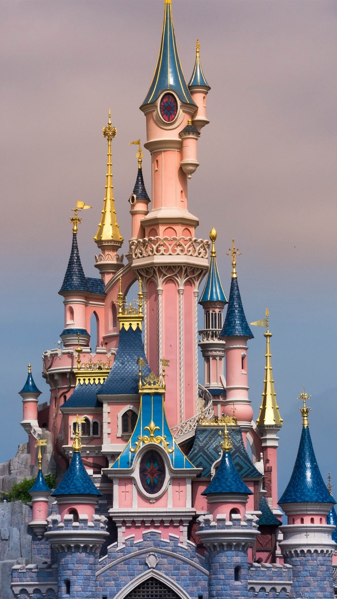 Disneyland In France Beautiful Castle 1080x1920 Iphone 8 7