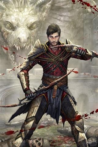 iPhone Papéis de Parede Dragon Age, jogo para PC