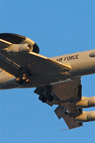 iPhone Wallpaper E-3C aircraft, US air force