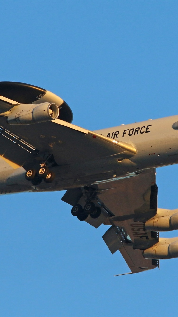 E 3c Aircraft Us Air Force 750x1334 Iphone 8 7 6 6s Wallpaper