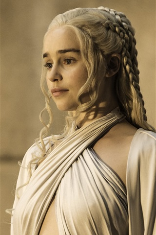 iPhone Wallpaper Emilia Clarke, Game of Thrones, Season 5