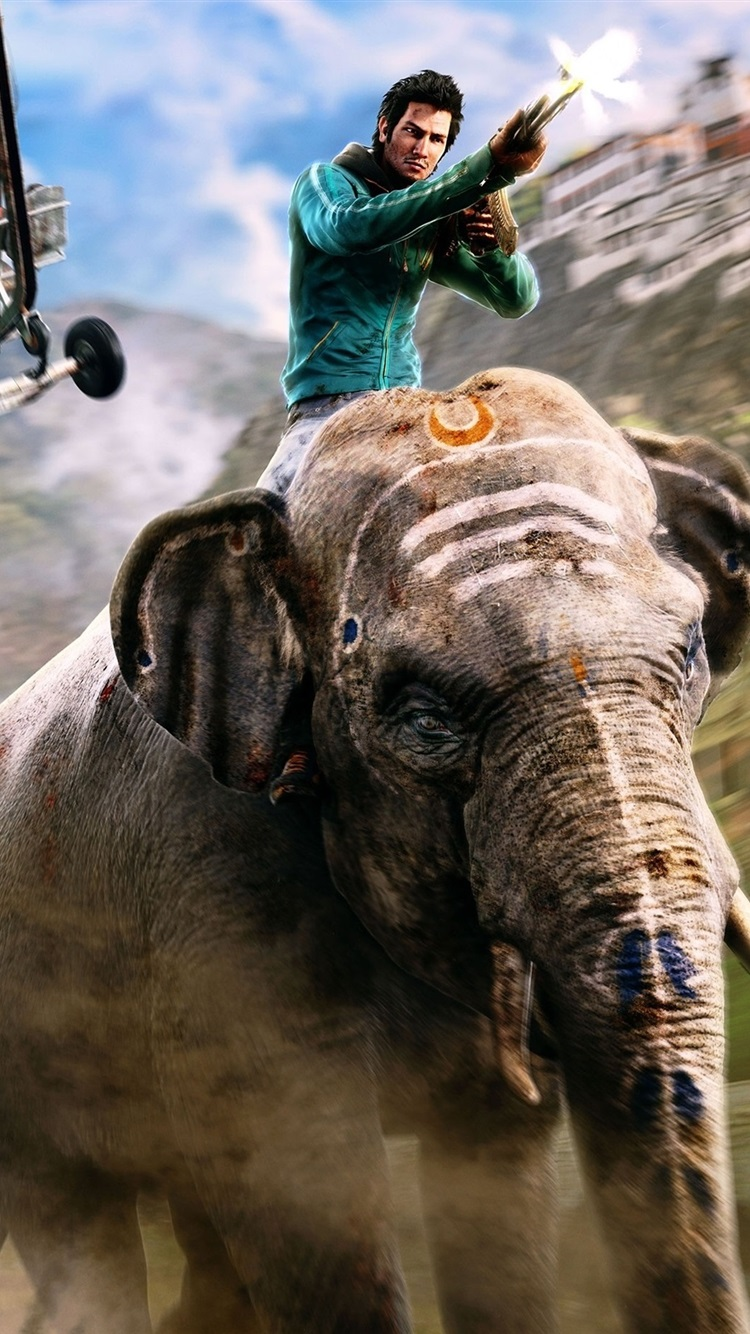 Far Cry 4 Ps4 Games Elephant 750x1334 Iphone 8 7 6 6s Wallpaper