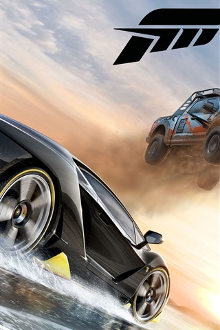 iPhone Wallpaper Forza Horizon 3, crazy racing