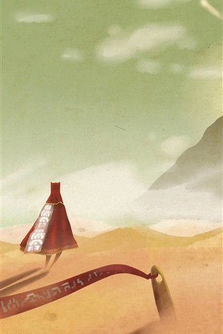 iPhone Wallpaper Journey, desert, mountain, sand, creative design