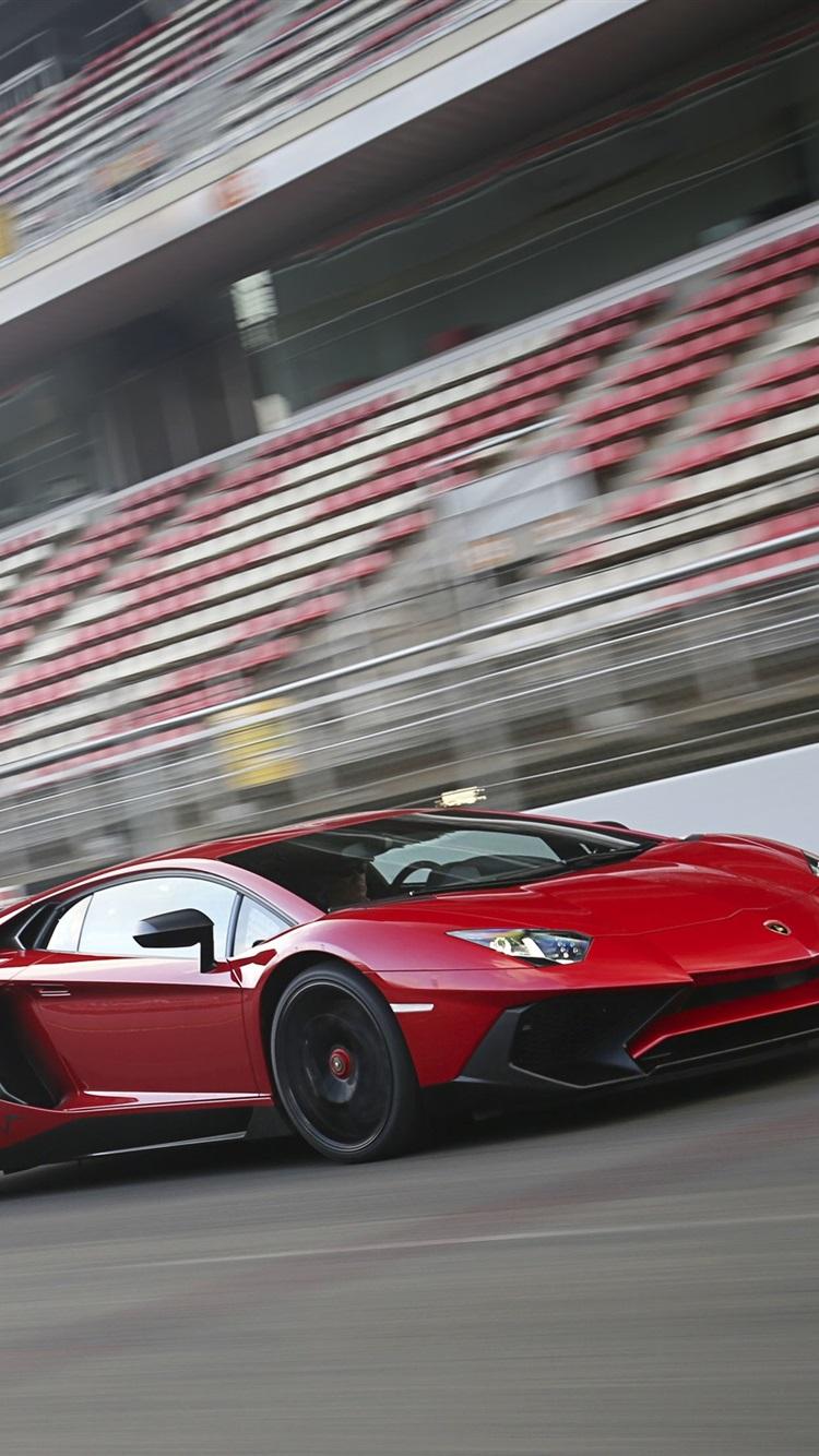 Lamborghini Aventador Lp750 4 Sv Red Supercar 750x1334 Iphone 8 7 6