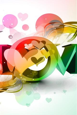 Love Beautiful Vector Design 1080x1920 Iphone 8 7 6 6s Plus
