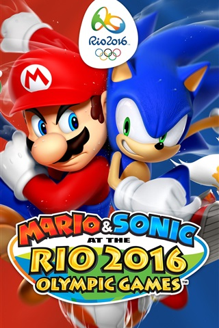 iPhone Wallpaper Mario and Sonic at the Rio 2016 Olympic Games