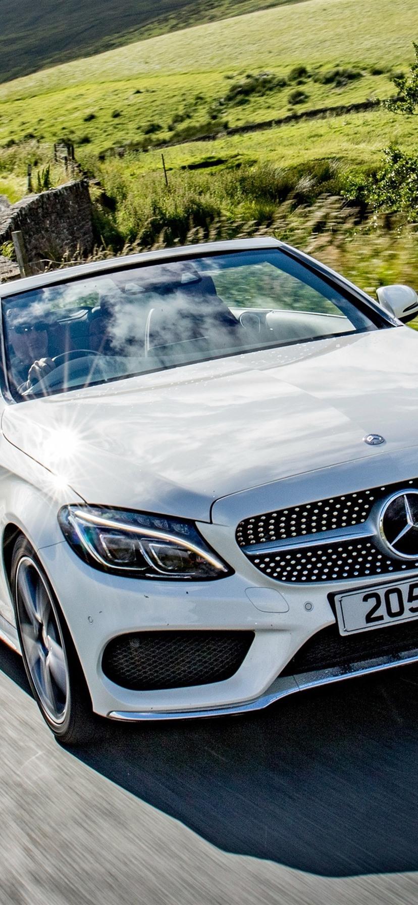 Mercedes Benz AMG C Class Cabriolet A21 white car 21x21 ...