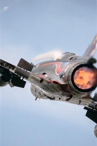 iPhone Wallpaper Mirage 2000N aircraft rear view