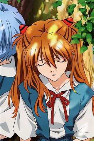 iPhone Wallpaper Neon Genesis Evangelion, Japanese anime