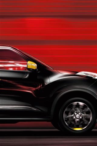 iPhone Wallpaper Nissan Juke black car speed
