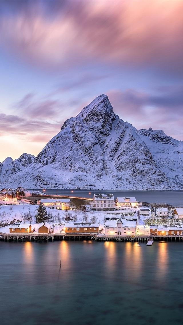 Norway Lofoten Archipelago Village Island Fjord