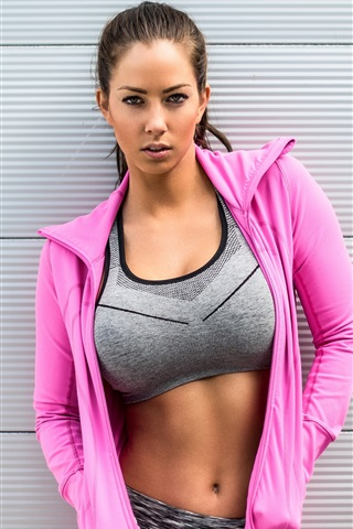 iPhone Wallpaper Pink dress girl, sportswear