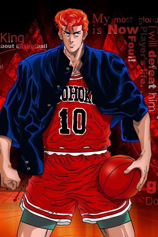iPhone Wallpaper Sakuragi Hanamichi, Slam Dunk