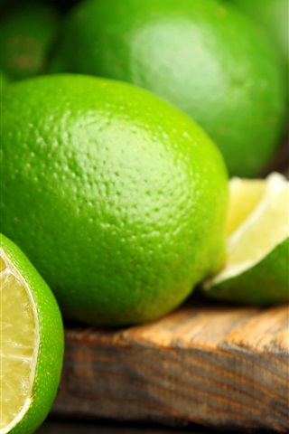 iPhone Wallpaper Summer fruits, green lime citrus