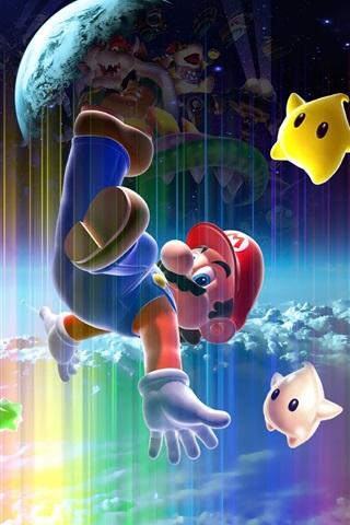 iPhone Wallpaper Super Mario, classic game, Nintendo