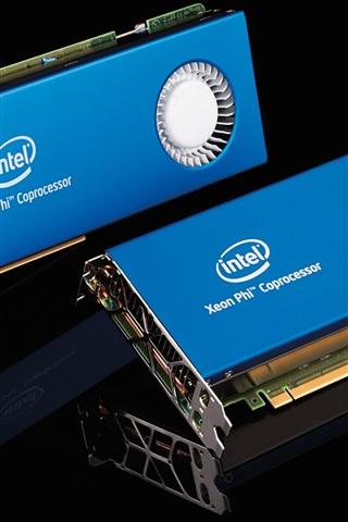 iPhone Wallpaper Supercomputer core hardware, Intel coprocessor card