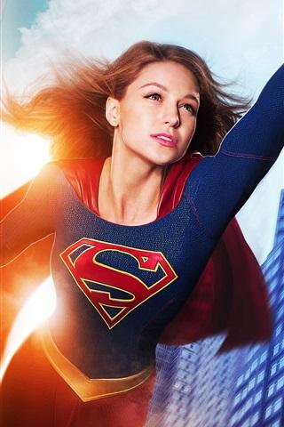 iPhone Wallpaper Supergirl, Melissa Benoist