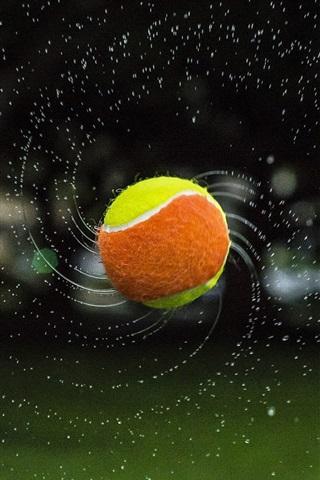 iPhone Wallpaper Tennis, ball, flight, water splash
