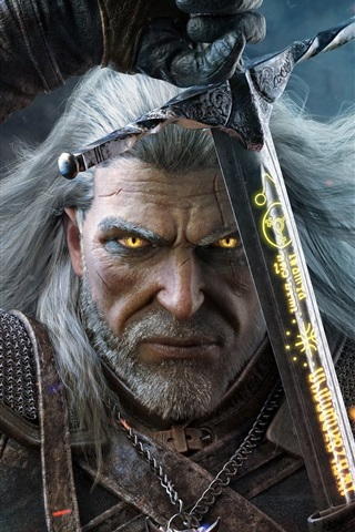 iPhone Wallpaper The Witcher 3, PS4 game