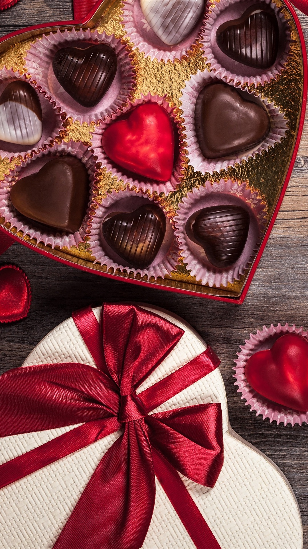 Valentine S Day Chocolate Candy Love Hearts Romantic Gift 1080x1920 Iphone 8 7 6 6s Plus Wallpaper Background Picture Image