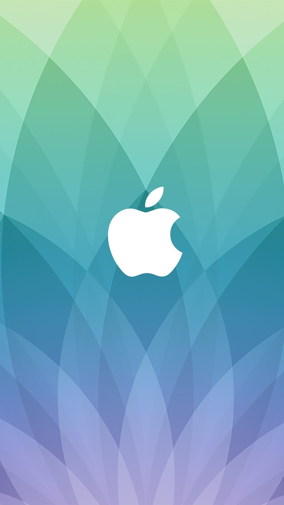 Wallpaper Apple Logo Blue Sector Shaped Background