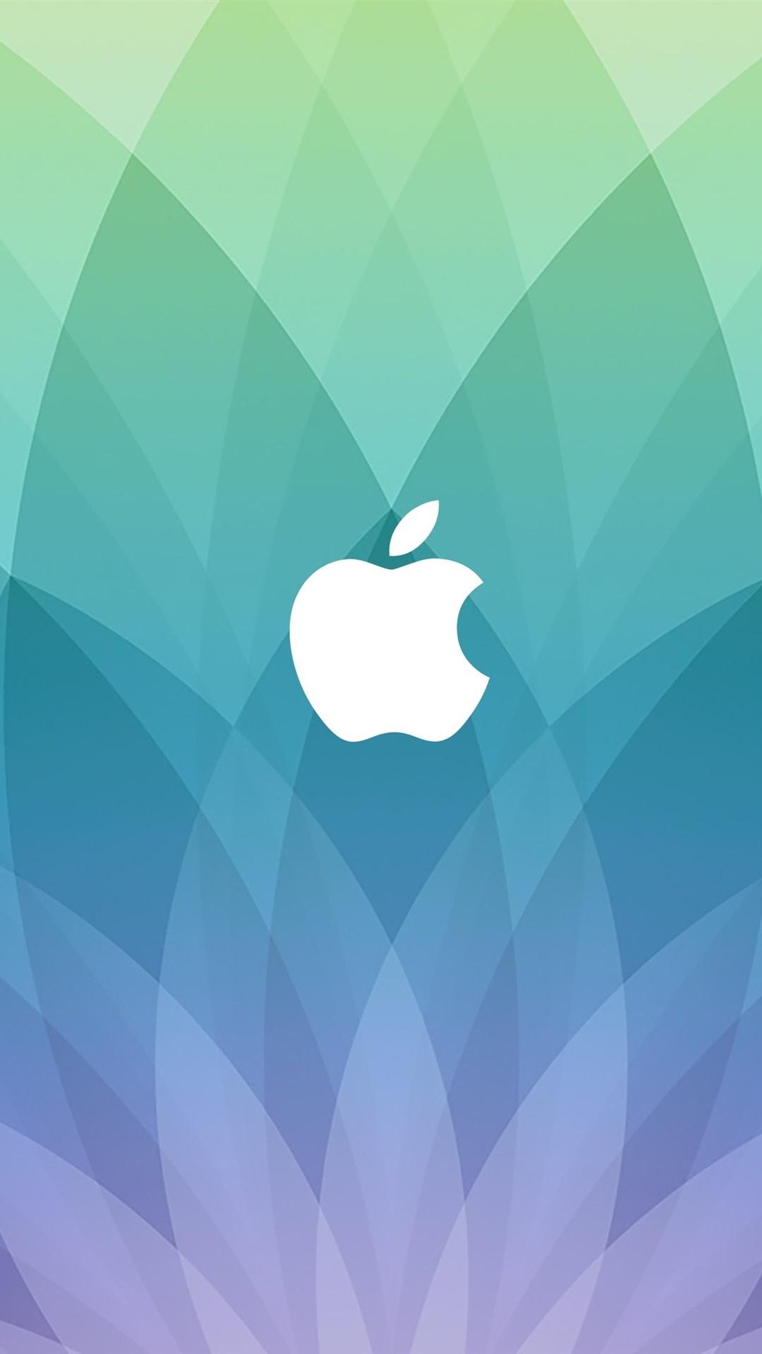 Apple logo blue sector shaped