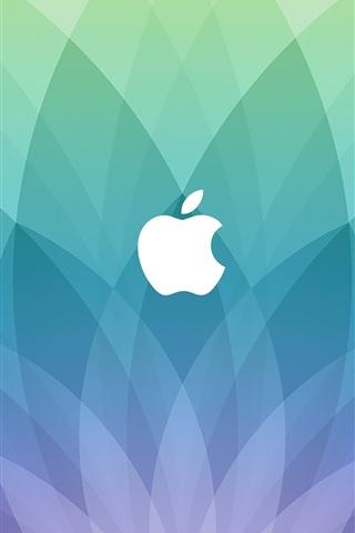 iPhone Papéis de Parede logotipo da Apple, o setor azul em forma