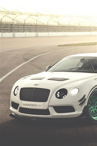 iPhone Wallpaper Bentley Continental GT3-R white race car