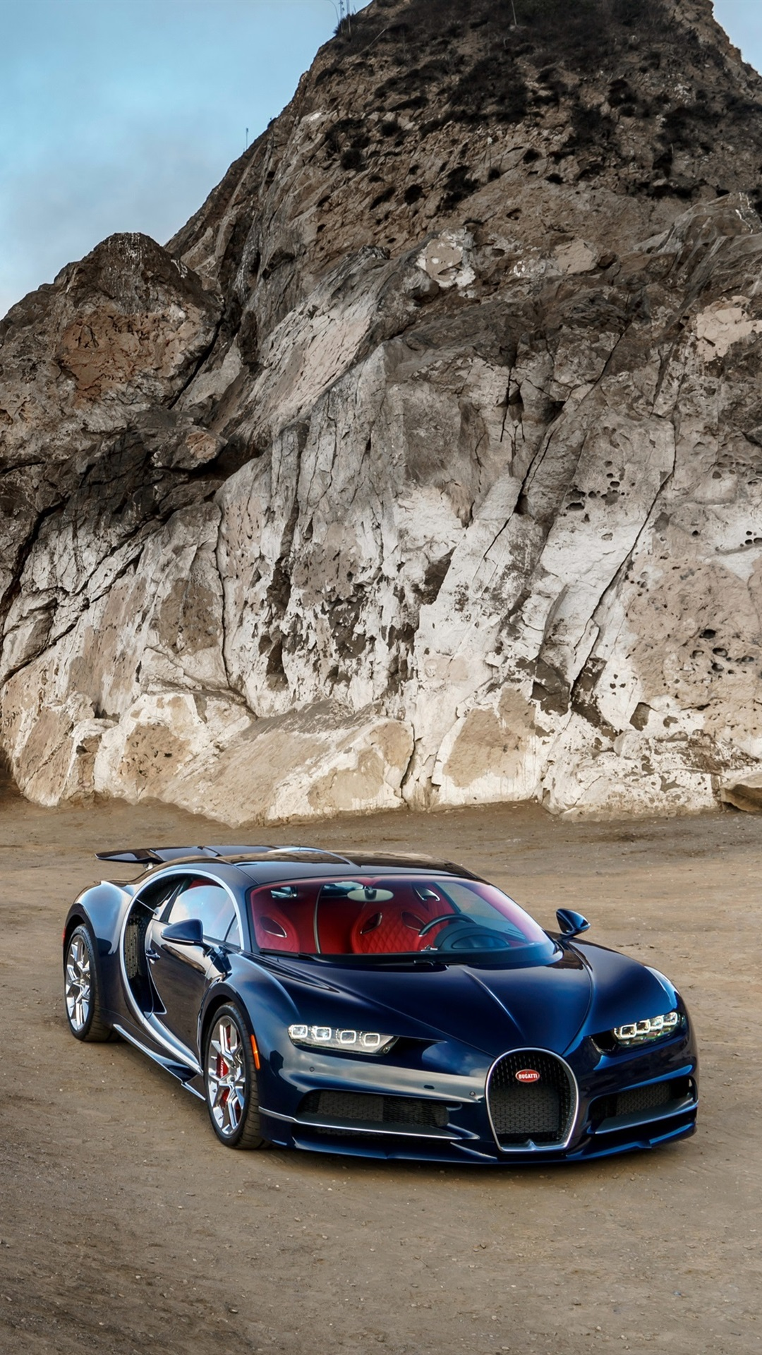 Bugatti Chiron Blue Luxury Car North America Coast