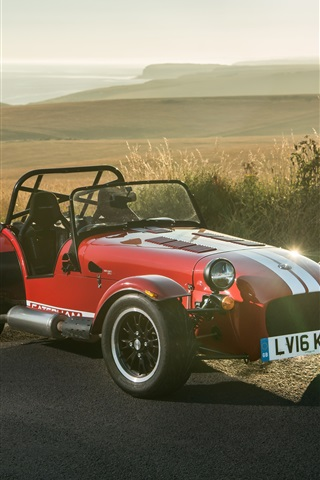 iPhone Wallpaper Caterham Seven 310R red sport car