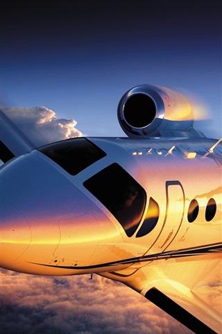 iPhone Wallpaper Cessna Citation 4 airplane flight