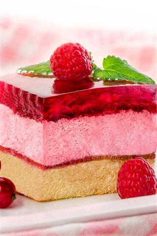iPhone Wallpaper Dessert, cake, berries