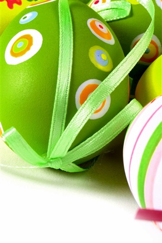 iPhone Wallpaper Easter eggs, colorful, decoration, spring