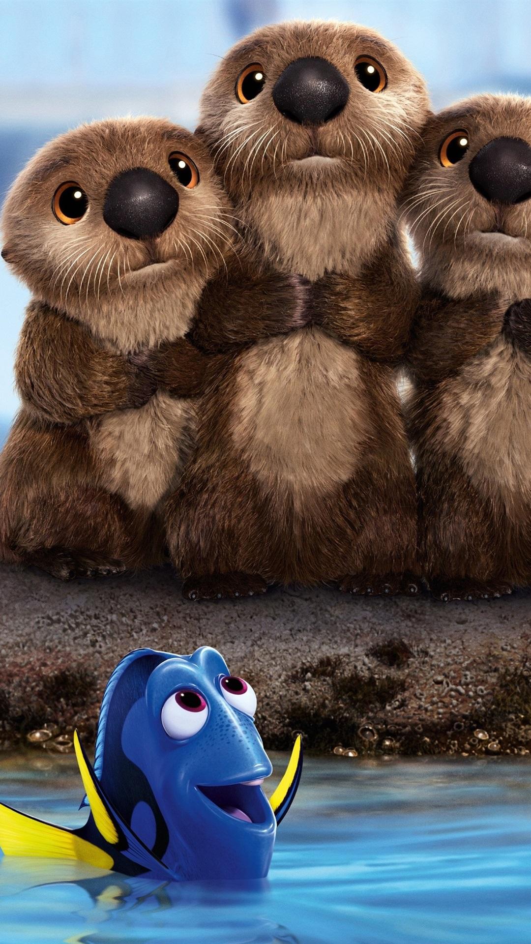 Finding Dory Cute Beavers 1080x1920 Iphone 8 7 6 6s Plus