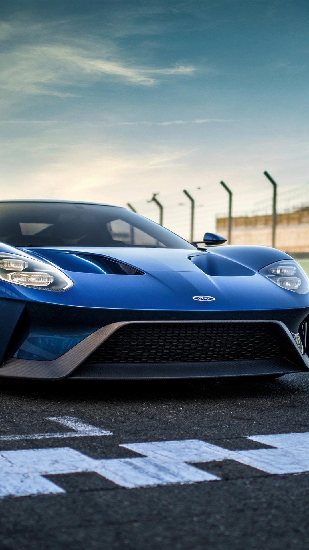 Ford GT II blue supercar front view